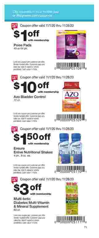 Walgreens - deals are valid from 11/01/20 to 11/28/20 - page 71.