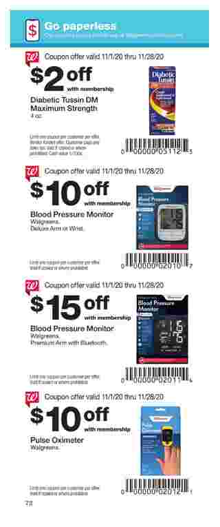 Walgreens - deals are valid from 11/01/20 to 11/28/20 - page 72.