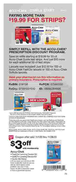 Walgreens - deals are valid from 11/01/20 to 11/28/20 - page 73.