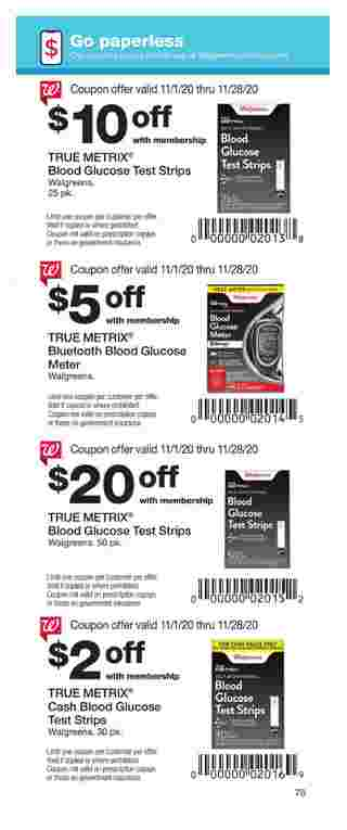 Walgreens - deals are valid from 11/01/20 to 11/28/20 - page 75.