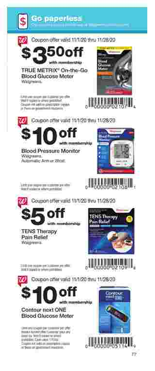 Walgreens - deals are valid from 11/01/20 to 11/28/20 - page 77.