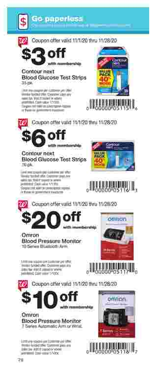 Walgreens - deals are valid from 11/01/20 to 11/28/20 - page 78.