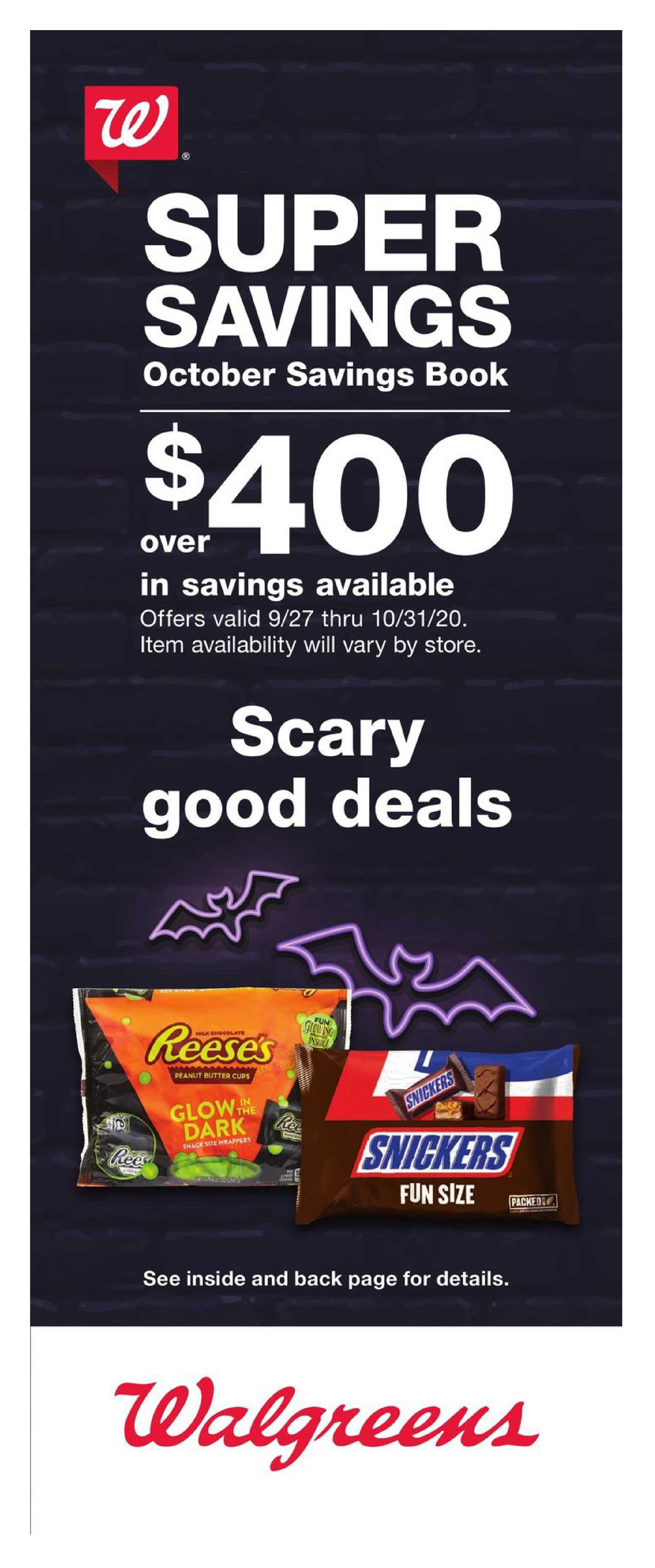 Walgreens - deals are valid from 09/27/20 to 10/31/20 - page 1.