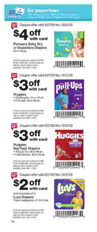 Walgreens - deals are valid from 09/27/20 to 10/31/20 - page 20.