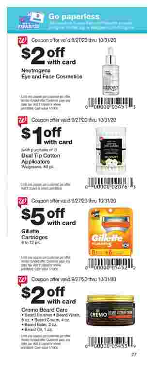 Walgreens - deals are valid from 09/27/20 to 10/31/20 - page 27.