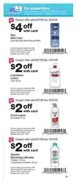 Walgreens - deals are valid from 09/27/20 to 10/31/20 - page 29.