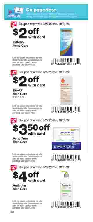 Walgreens - deals are valid from 09/27/20 to 10/31/20 - page 32.