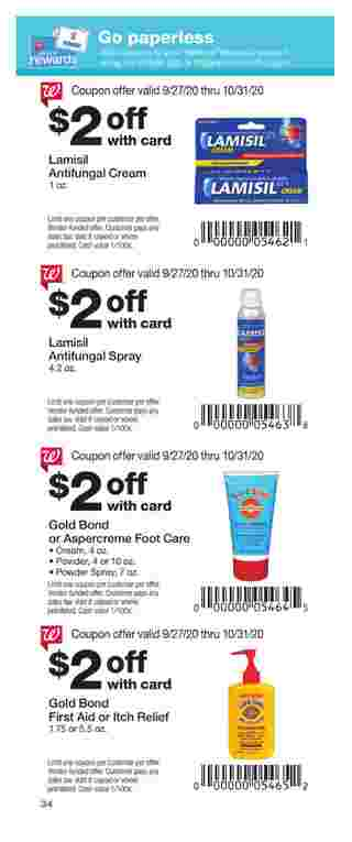 Walgreens - deals are valid from 09/27/20 to 10/31/20 - page 34.