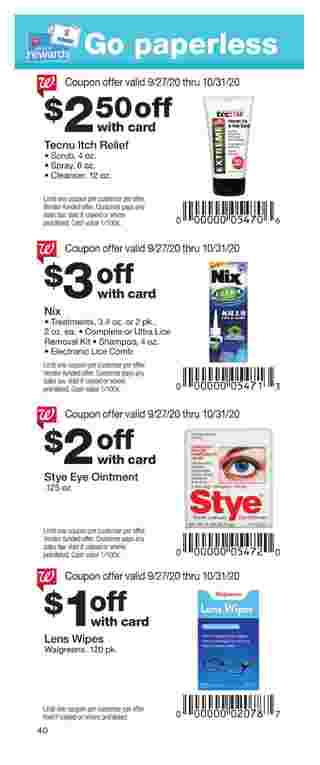 Walgreens - deals are valid from 09/27/20 to 10/31/20 - page 40.