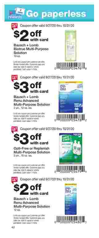 Walgreens - deals are valid from 09/27/20 to 10/31/20 - page 42.