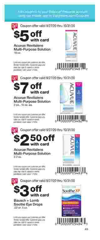 Walgreens - deals are valid from 09/27/20 to 10/31/20 - page 43.