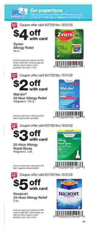 Walgreens - deals are valid from 09/27/20 to 10/31/20 - page 49.