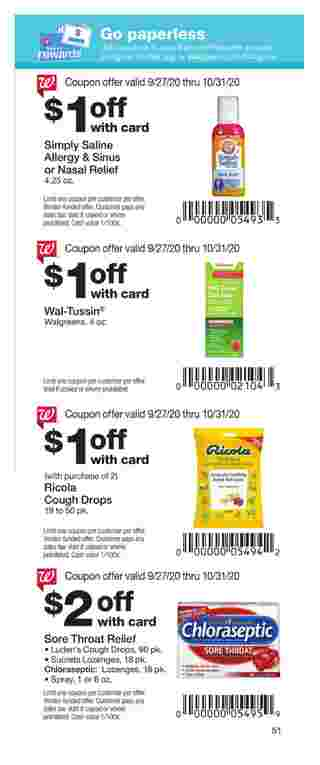 Walgreens - deals are valid from 09/27/20 to 10/31/20 - page 51.
