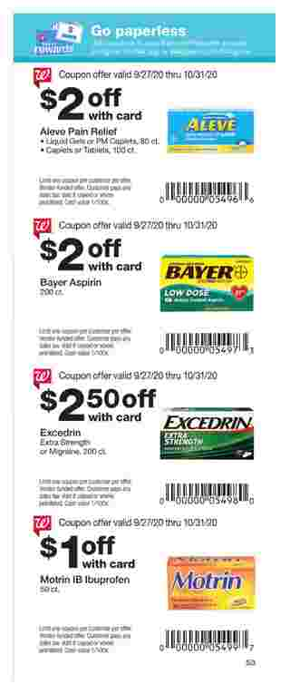 Walgreens - deals are valid from 09/27/20 to 10/31/20 - page 53.