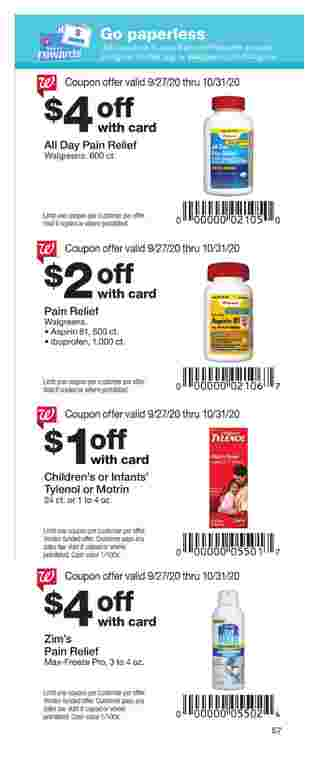 Walgreens - deals are valid from 09/27/20 to 10/31/20 - page 57.