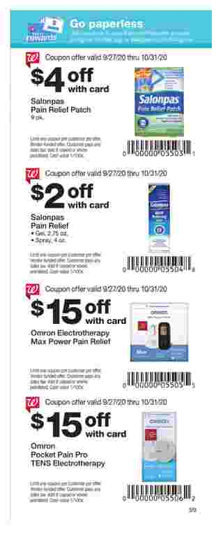 Walgreens - deals are valid from 09/27/20 to 10/31/20 - page 59.