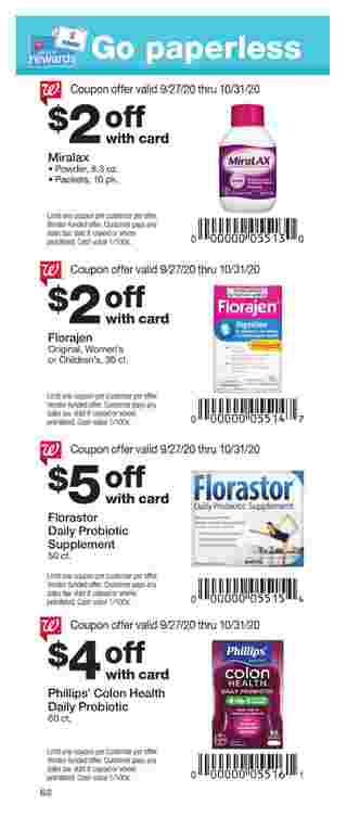 Walgreens - deals are valid from 09/27/20 to 10/31/20 - page 62.
