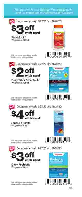 Walgreens - deals are valid from 09/27/20 to 10/31/20 - page 63.