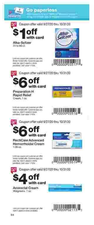Walgreens - deals are valid from 09/27/20 to 10/31/20 - page 64.