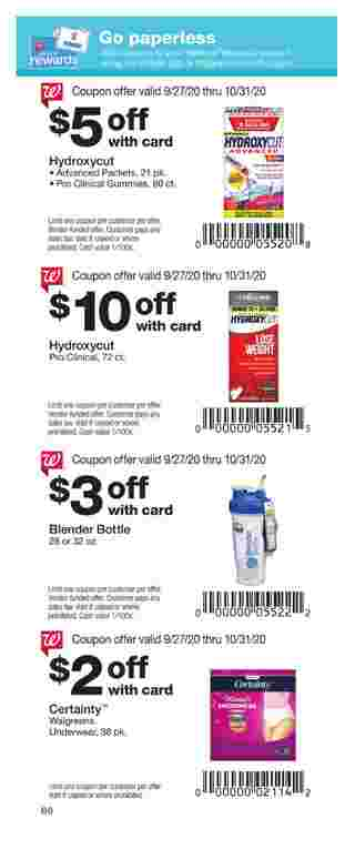 Walgreens - deals are valid from 09/27/20 to 10/31/20 - page 66.
