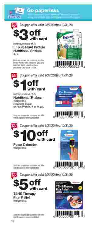 Walgreens - deals are valid from 09/27/20 to 10/31/20 - page 76.