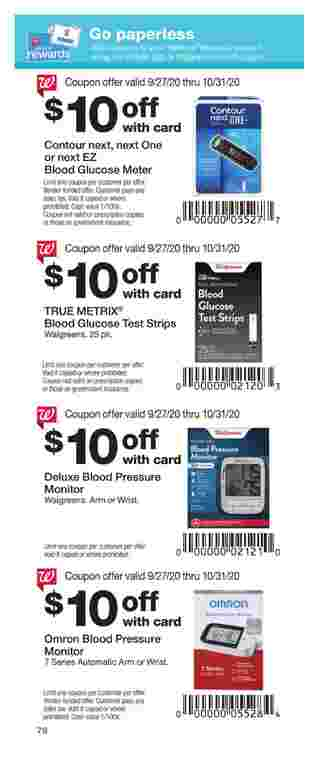Walgreens - deals are valid from 09/27/20 to 10/31/20 - page 78.