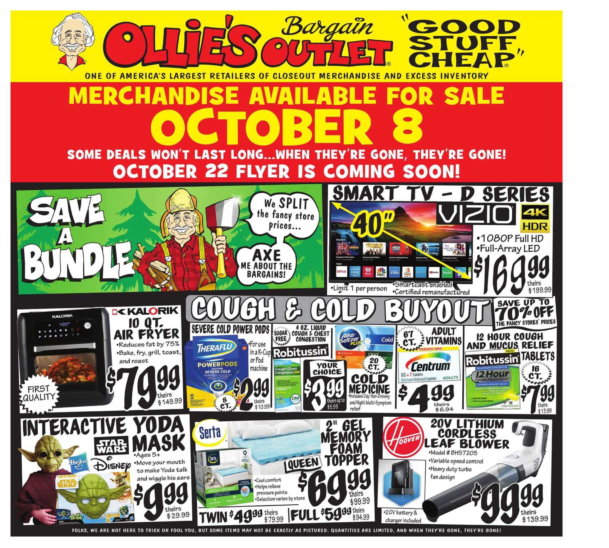 Ollie's Bargain Outlet - deals are valid from 10/08/20 to 10/14/20 - page 1.