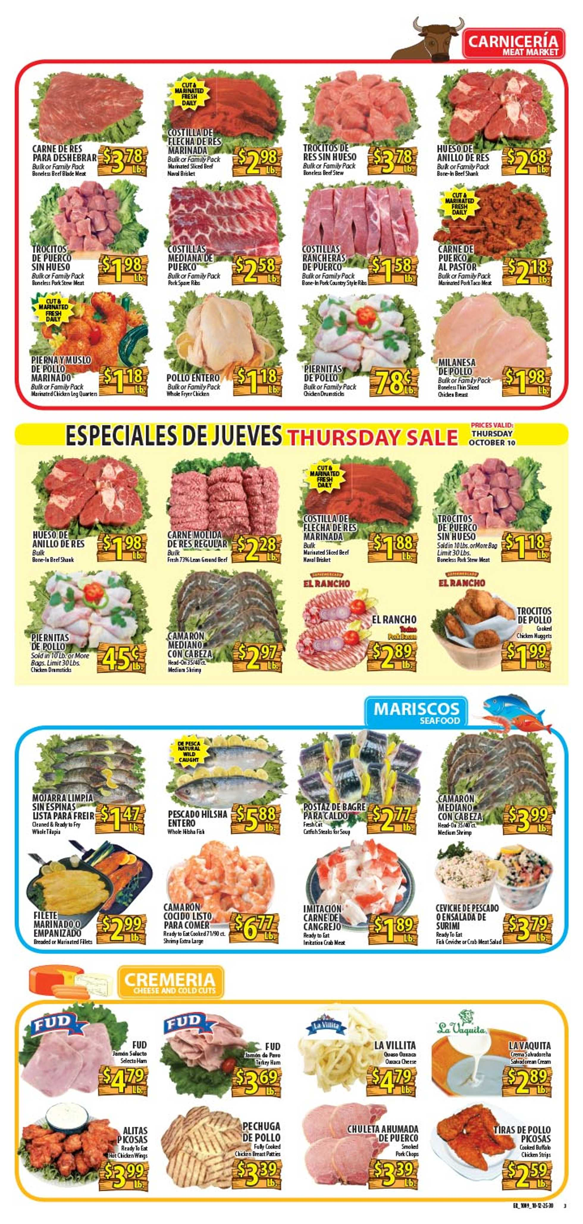 El Rancho Supermarket - deals are valid from 10/09/19 to 10/15/19 - page 3.