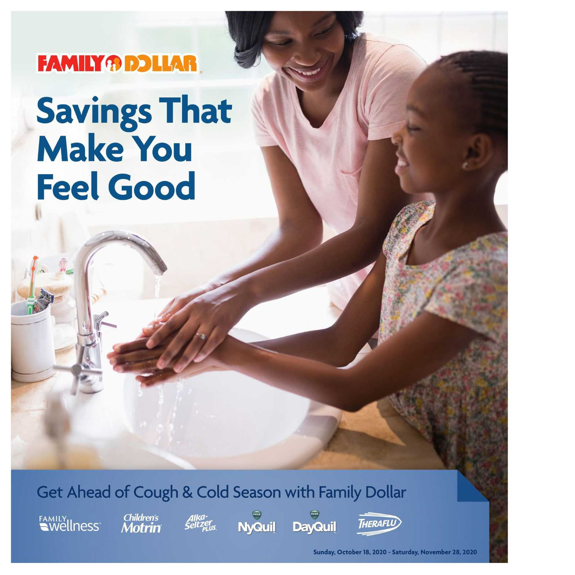 Family Dollar - deals are valid from 10/18/20 to 11/28/20 - page 1.