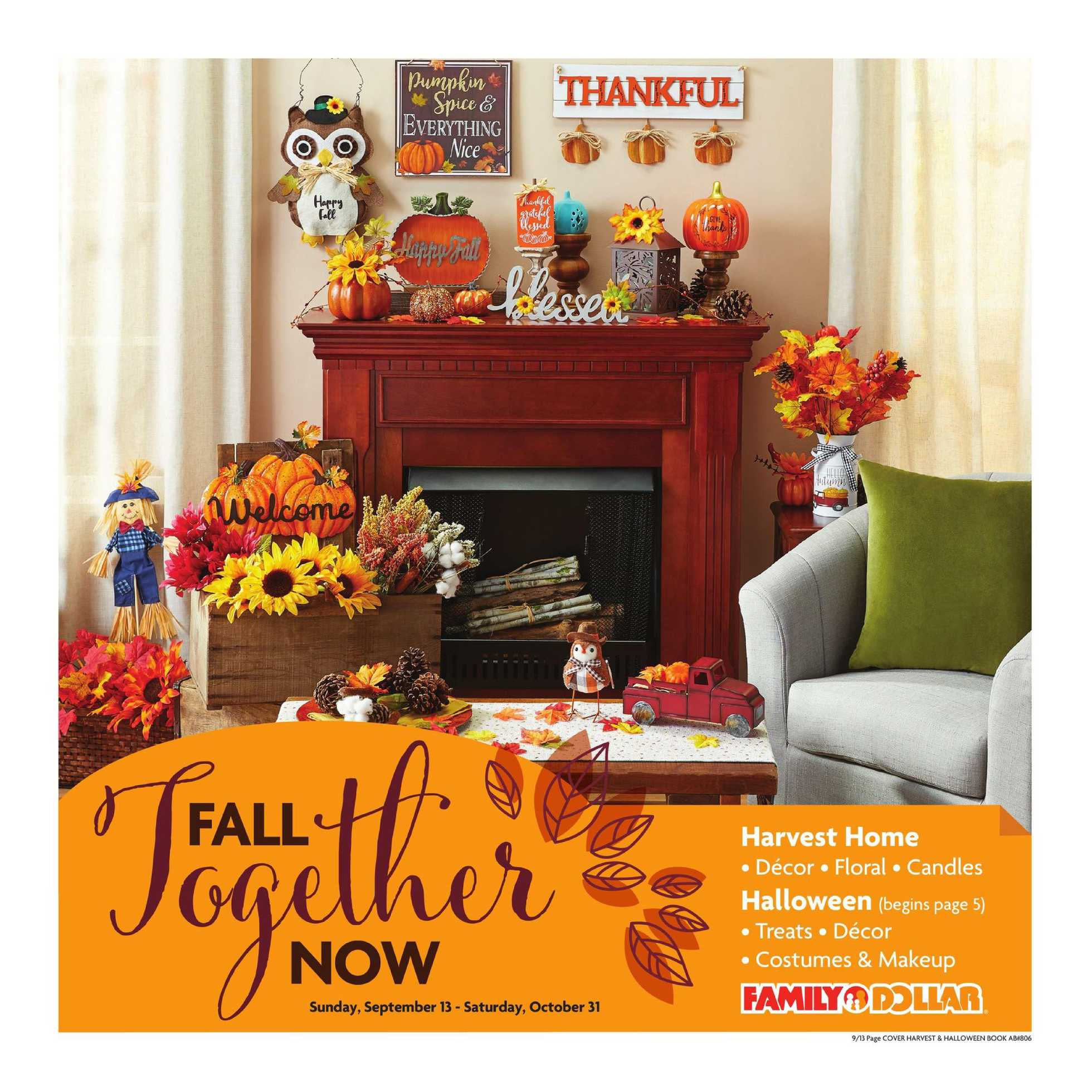 Family Dollar - deals are valid from 09/13/20 to 10/31/20 - page 1.
