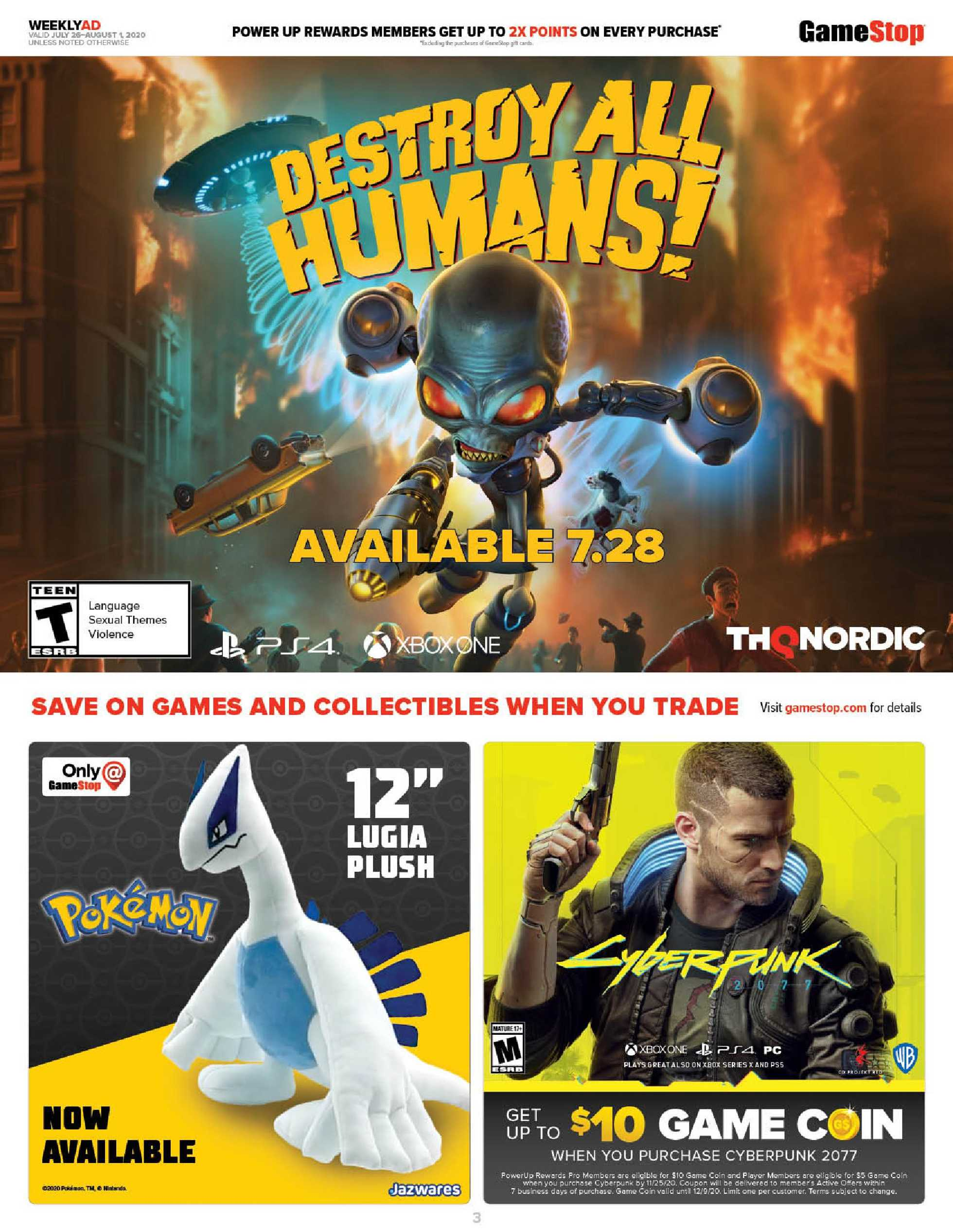 GameStop - deals are valid from 07/26/20 to 08/01/20 - page 3.