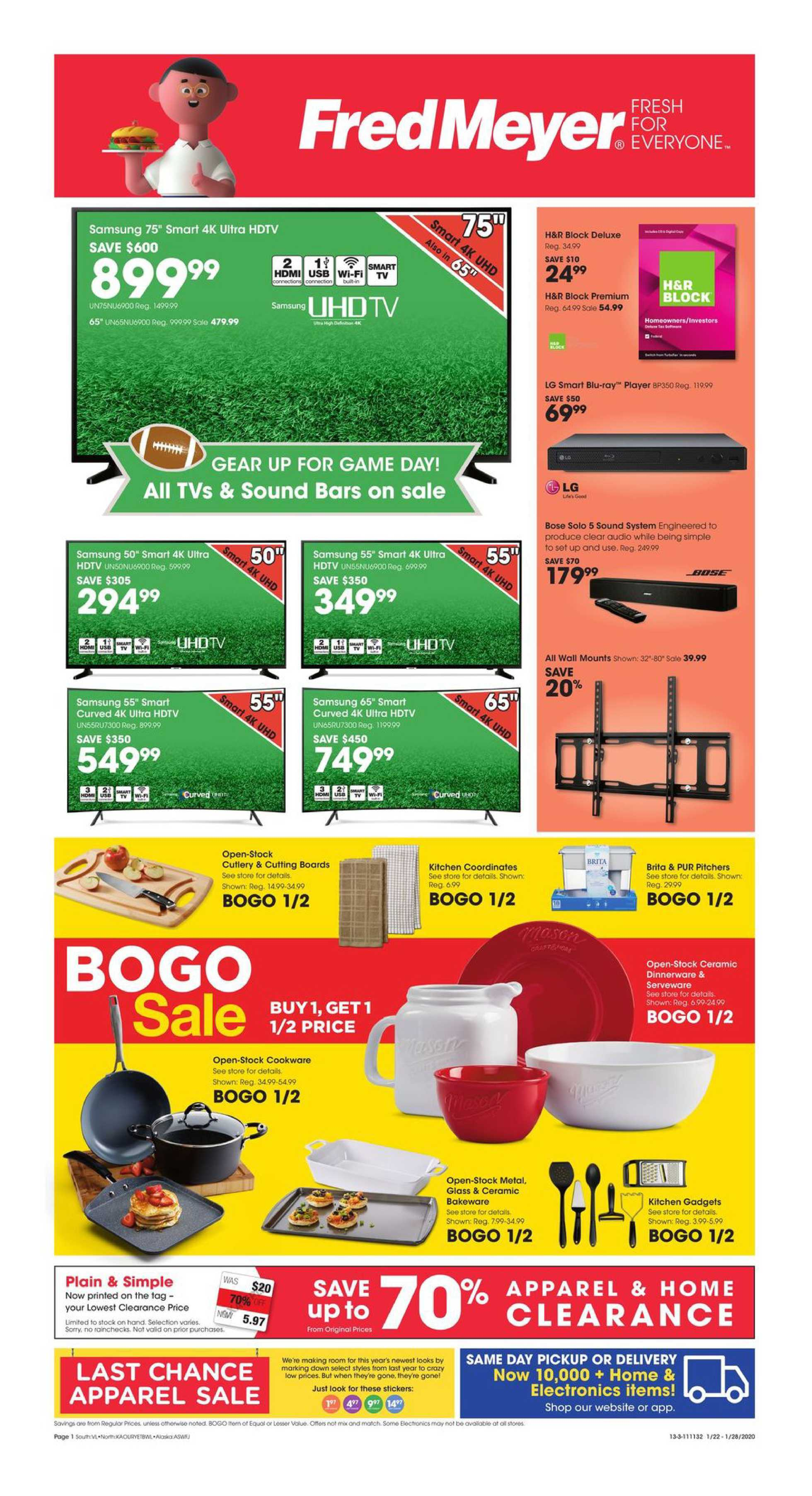 Fred Meyer - promo starting from 01/22/20 to 01/28/20 - page 1.