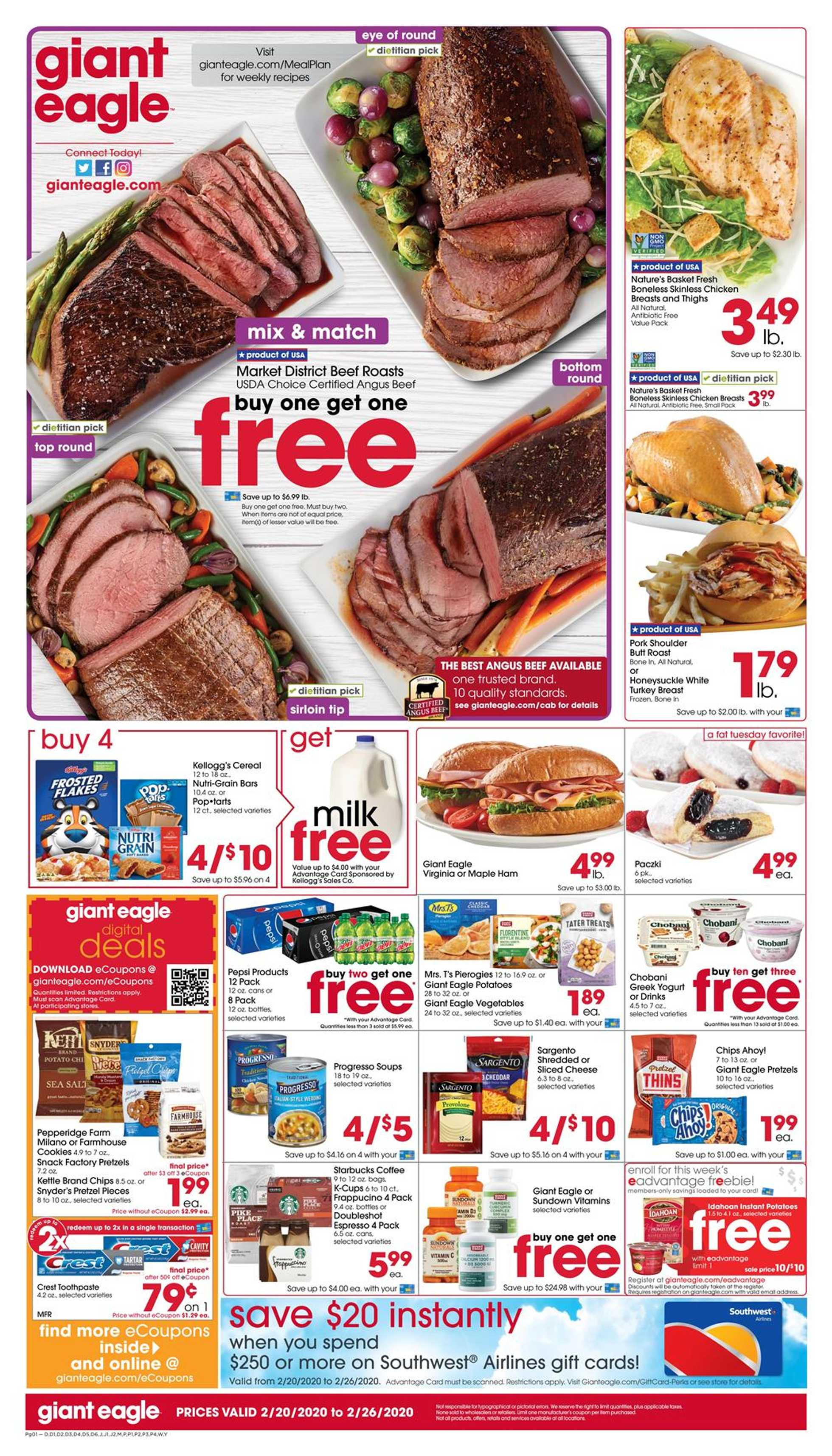 Giant Eagle - promo starting from 02/20/20 to 02/26/20 - page 1.