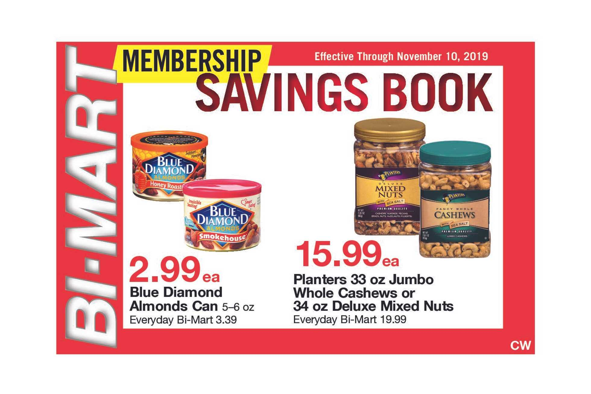 Bi-Mart - deals are valid from 10/31/19 to 11/10/19 - page 1.