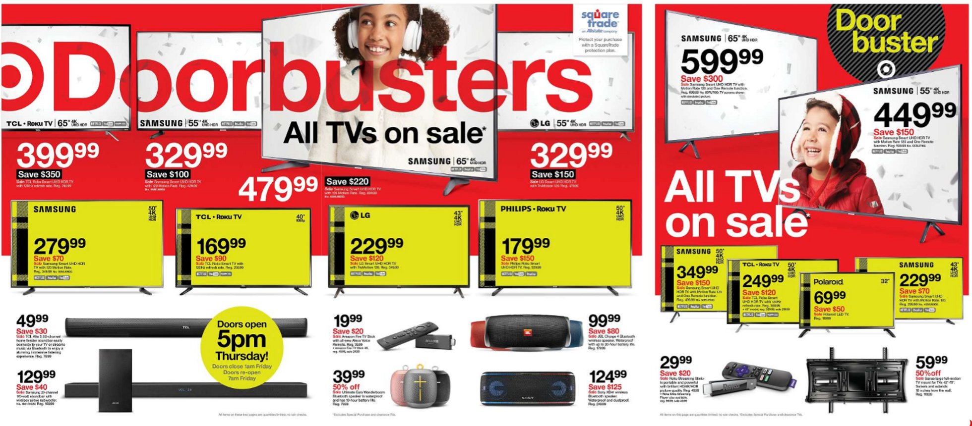 Target - promo starting from 11/28/19 to 11/30/19 - page 2. The promotion includes samsung, philips, tcl