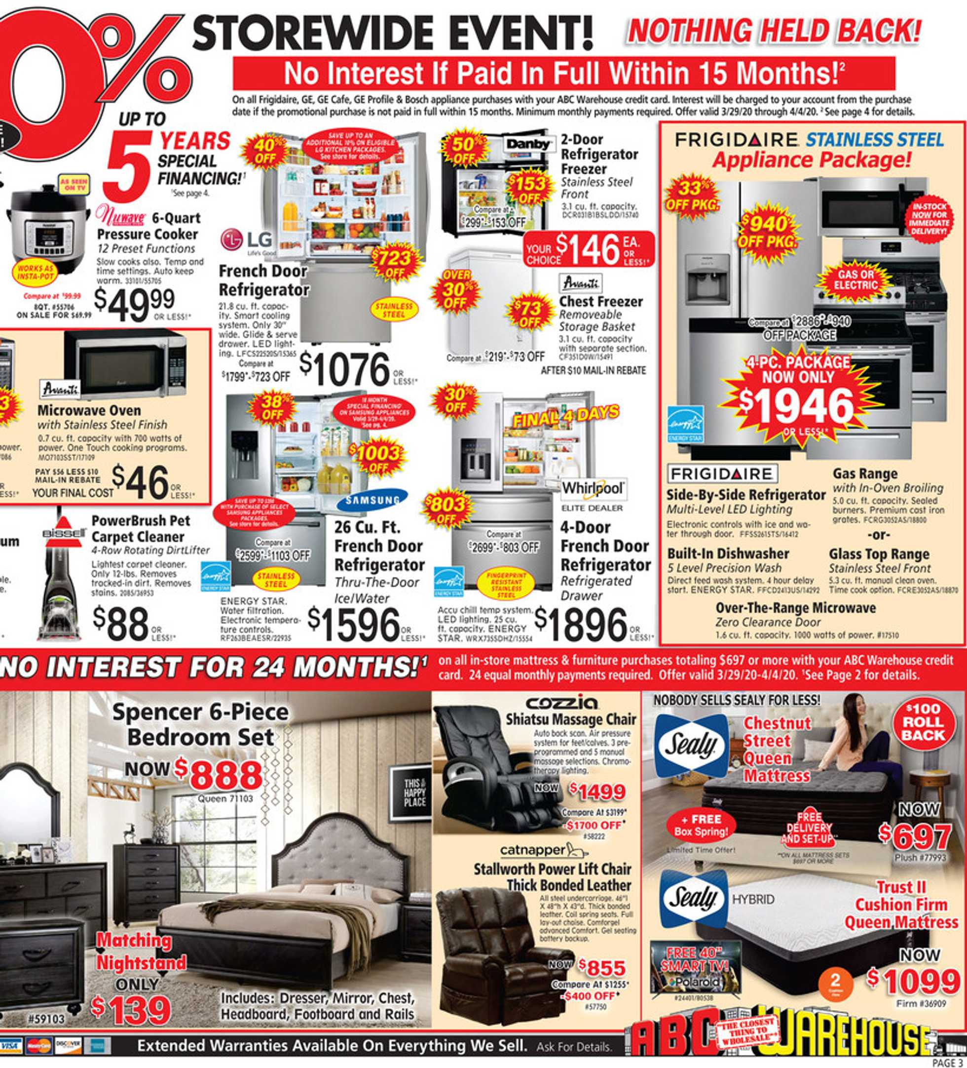 ABC Warehouse - deals are valid from 03/29/20 to 04/04/20 - page 3.