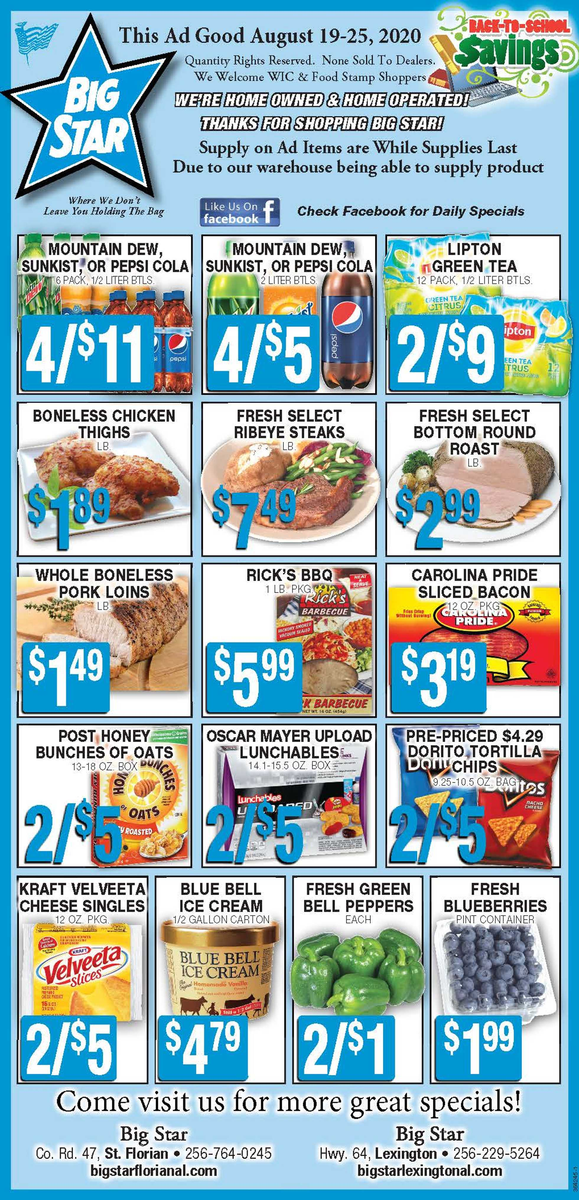 Star Market - deals are valid from 08/19/20 to 08/25/20 - page 1.