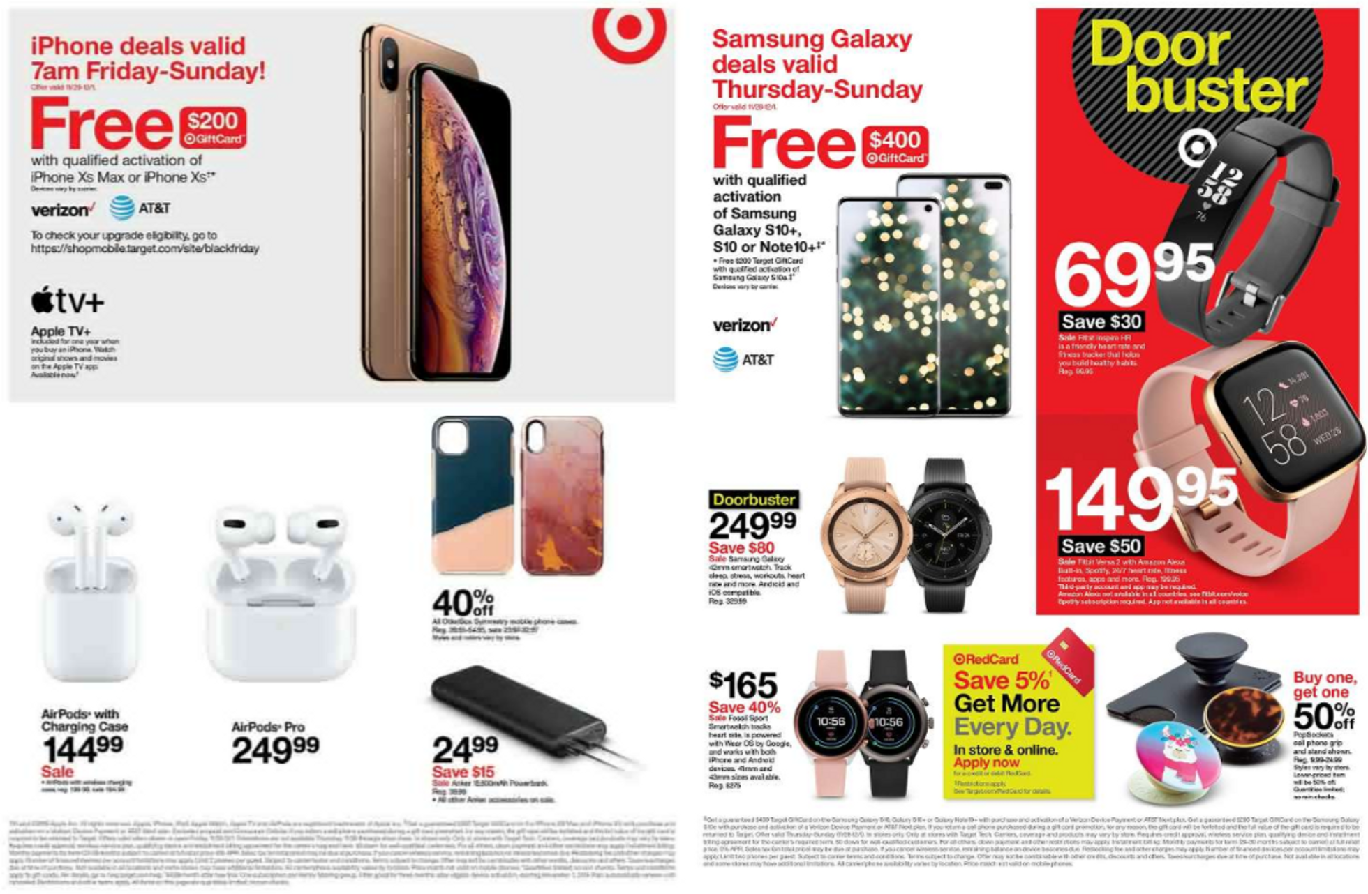 Target - promo starting from 11/28/19 to 11/30/19 - page 4. The promotion includes airpods, apple, iphone