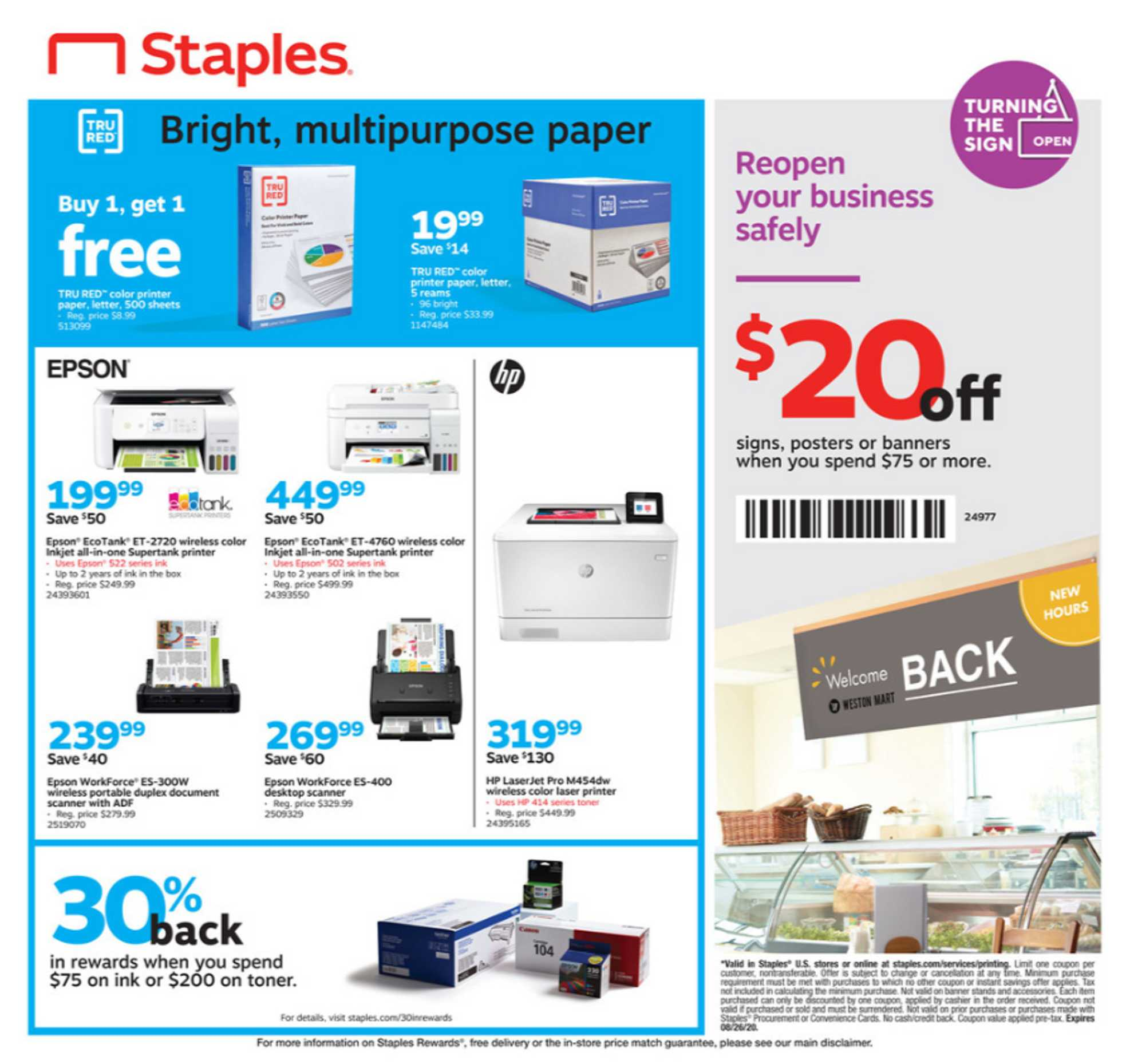 Staples - deals are valid from 07/05/20 to 07/11/20 - page 4.