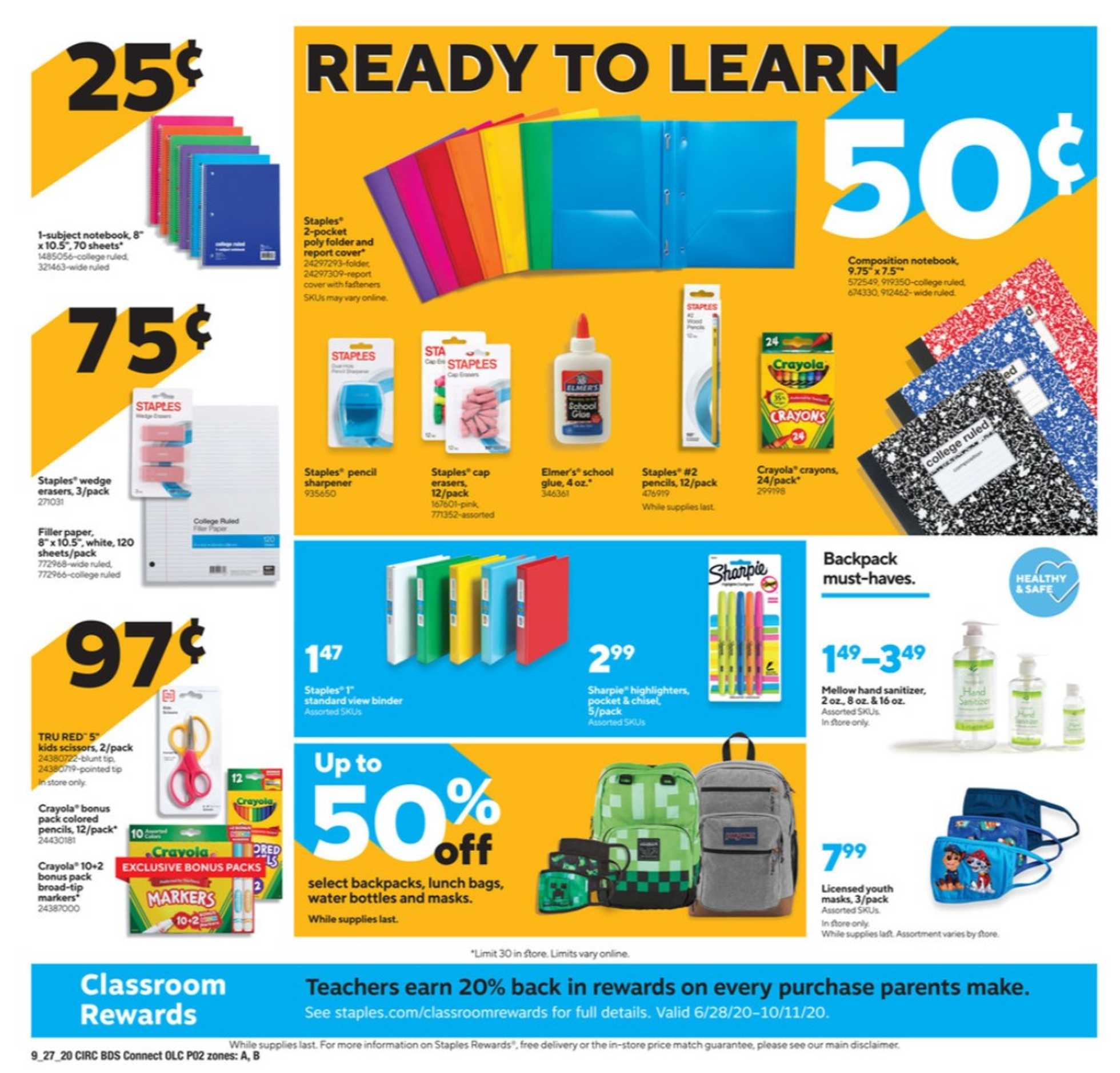 Staples - deals are valid from 09/27/20 to 10/03/20 - page 2.
