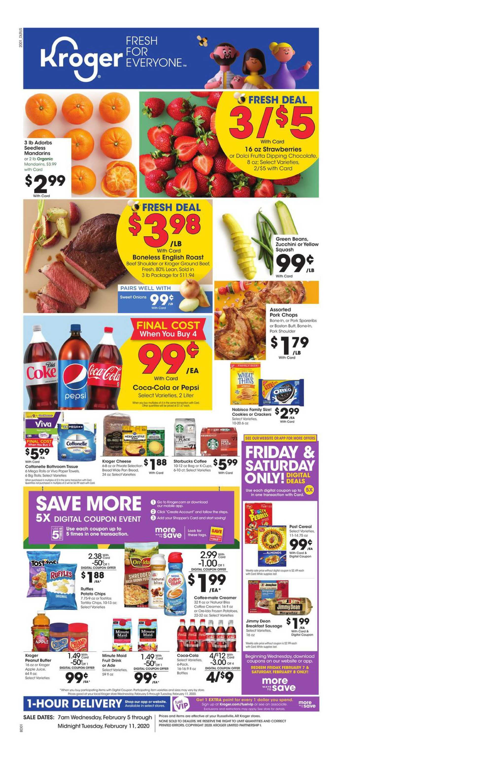 Kroger - deals are valid from 02/05/20 to 02/11/20 - page 1.