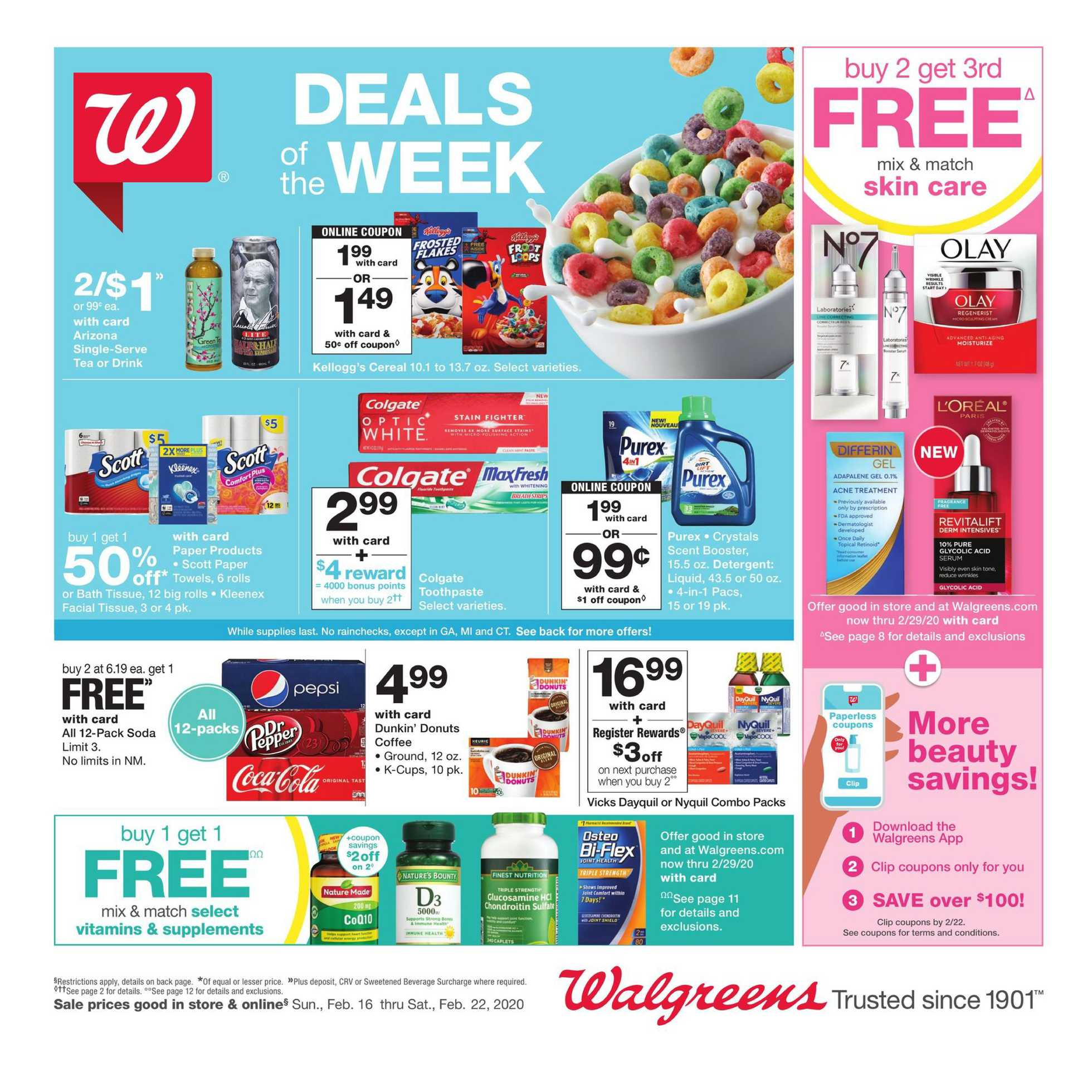 Walgreens - promo starting from 02/16/20 to 02/22/20 - page 1.