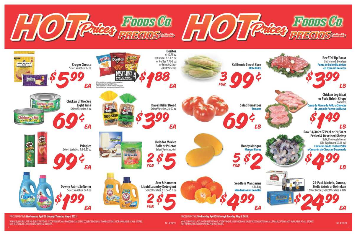 Foods Co. - deals are valid from 04/28/21 to 05/04/21 - page 1.