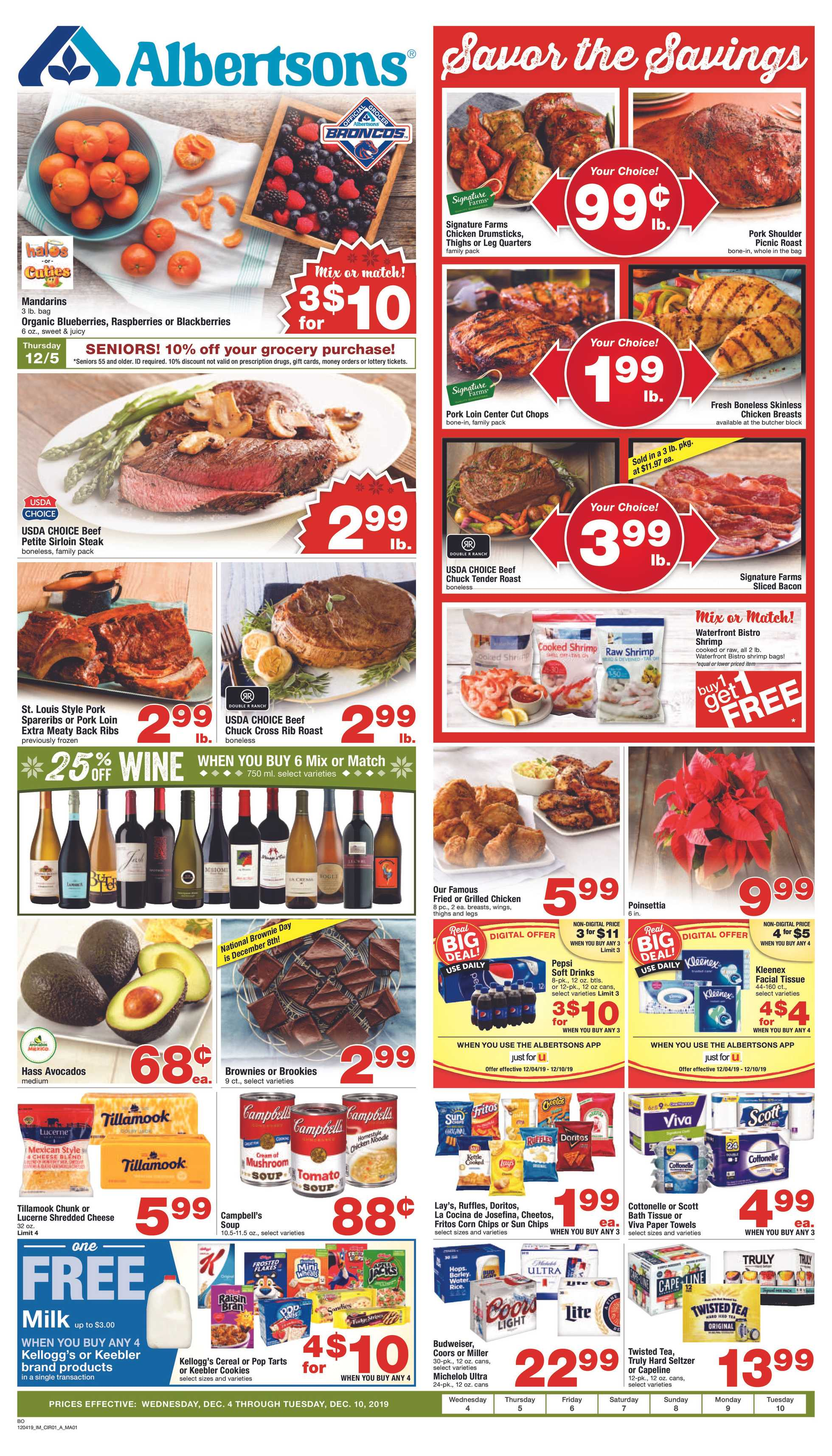 Albertsons - deals are valid from 12/04/19 to 12/10/19 - page 1.