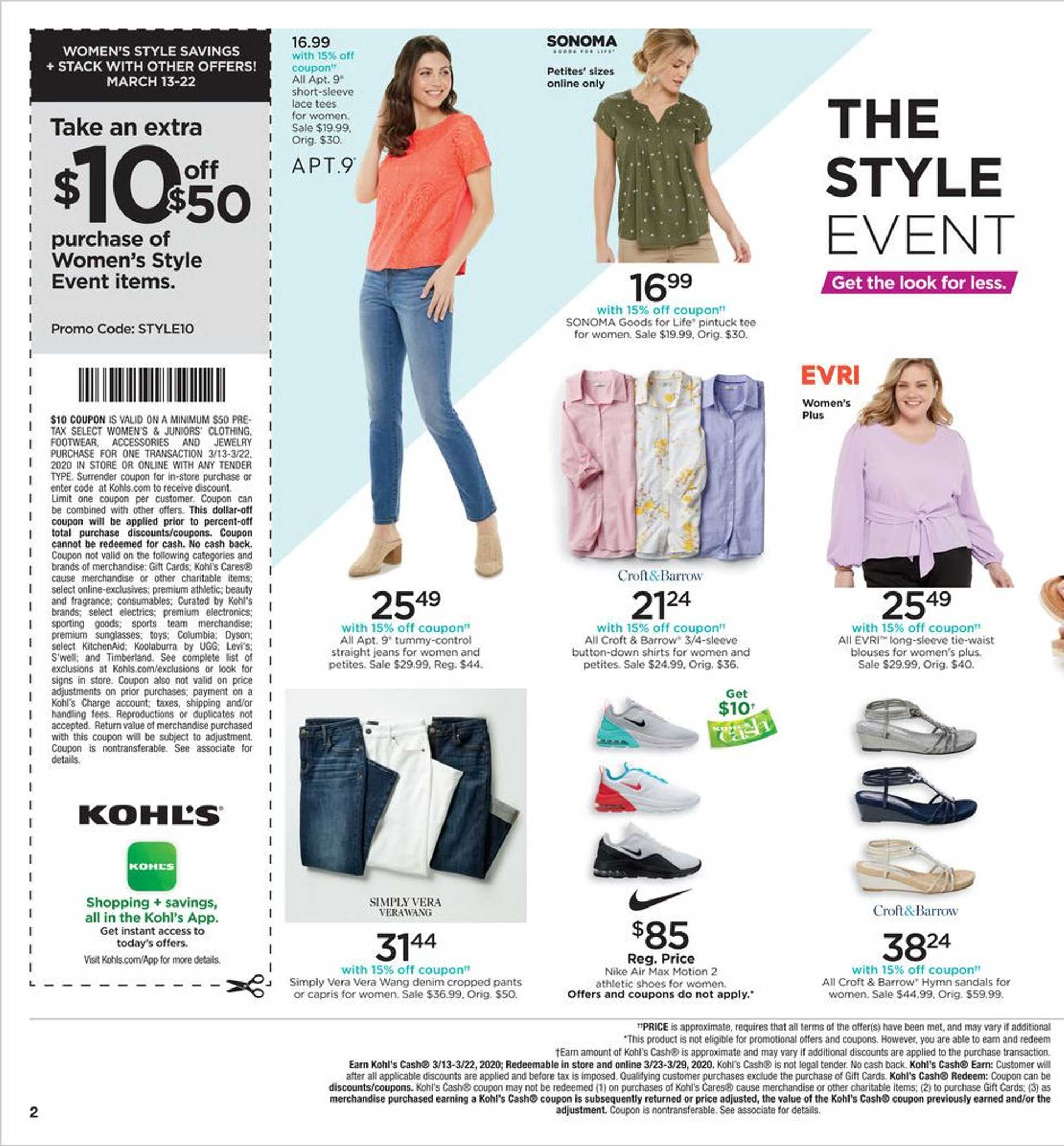 Kohl's - deals are valid from 03/13/20 to 03/22/20 - page 2.