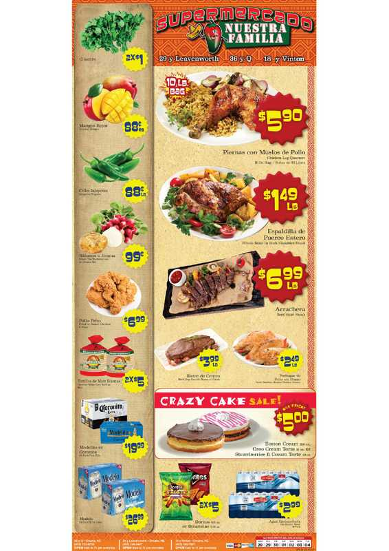 Supermercado Nuestra Familia - deals are valid from 04/28/21 to 05/04/21 - page 1.