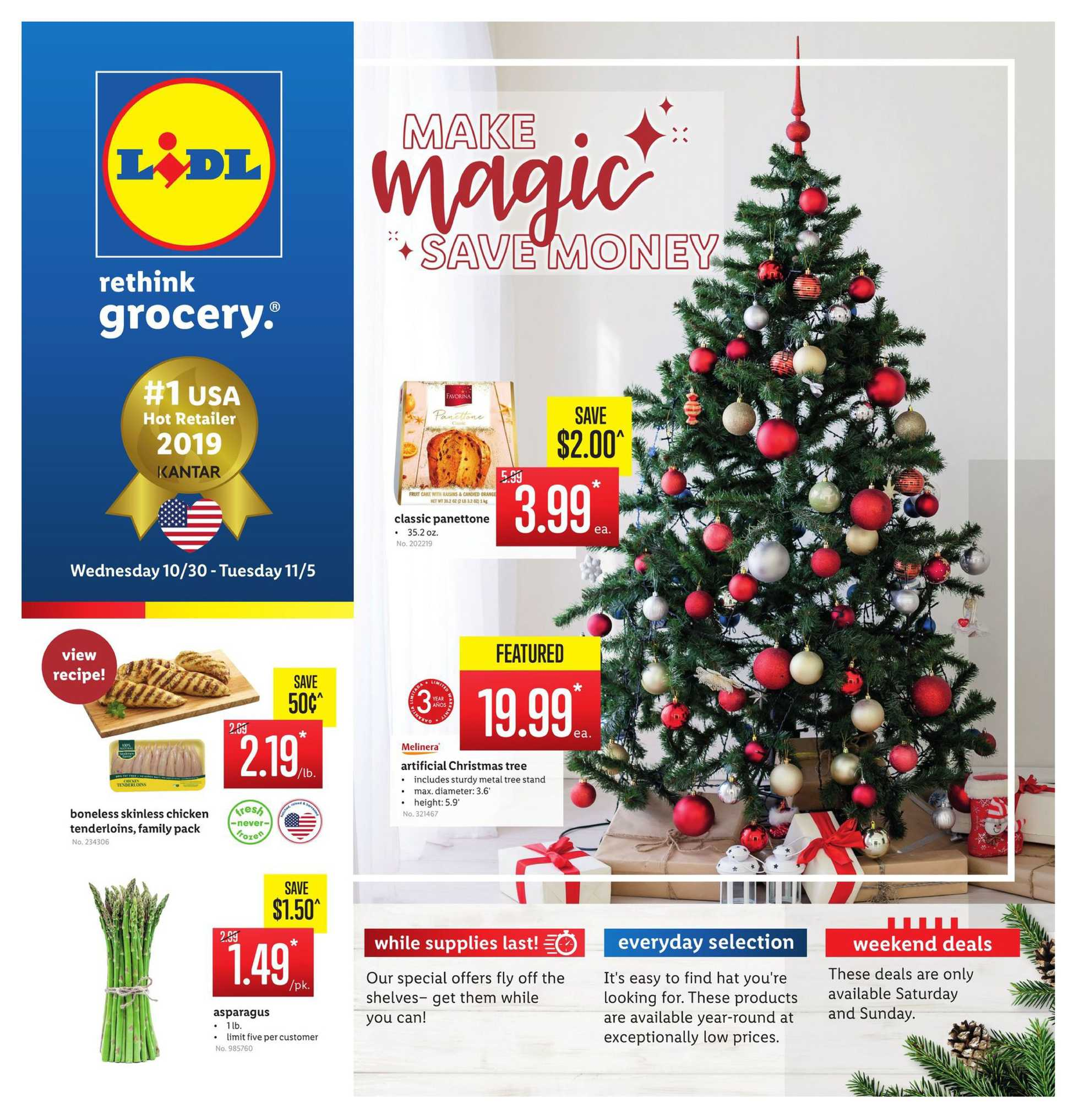 Lidl - deals are valid from 10/30/19 to 11/05/19 - page 1.