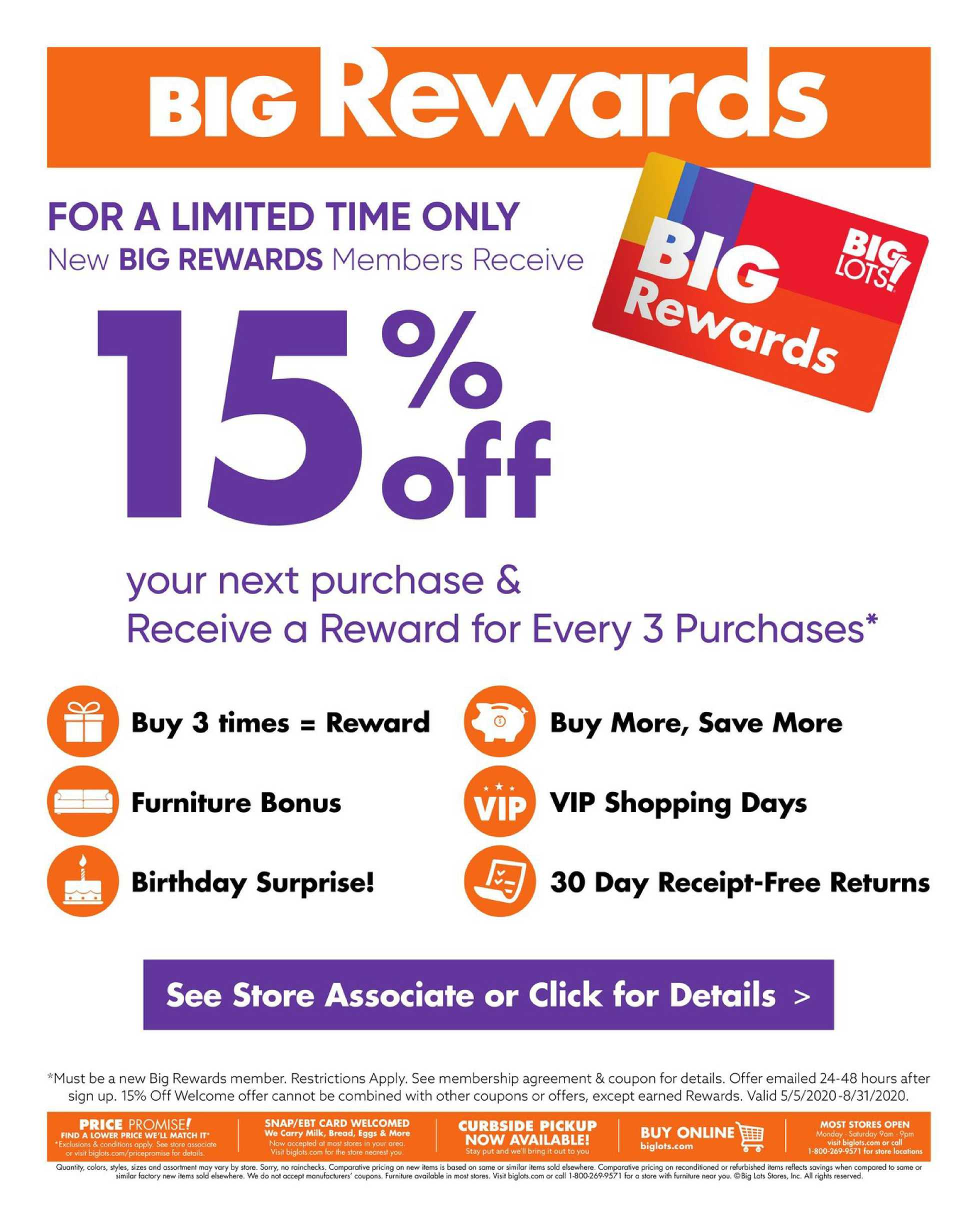Big Lots - deals are valid from 08/15/20 to 08/22/20 - page 3.