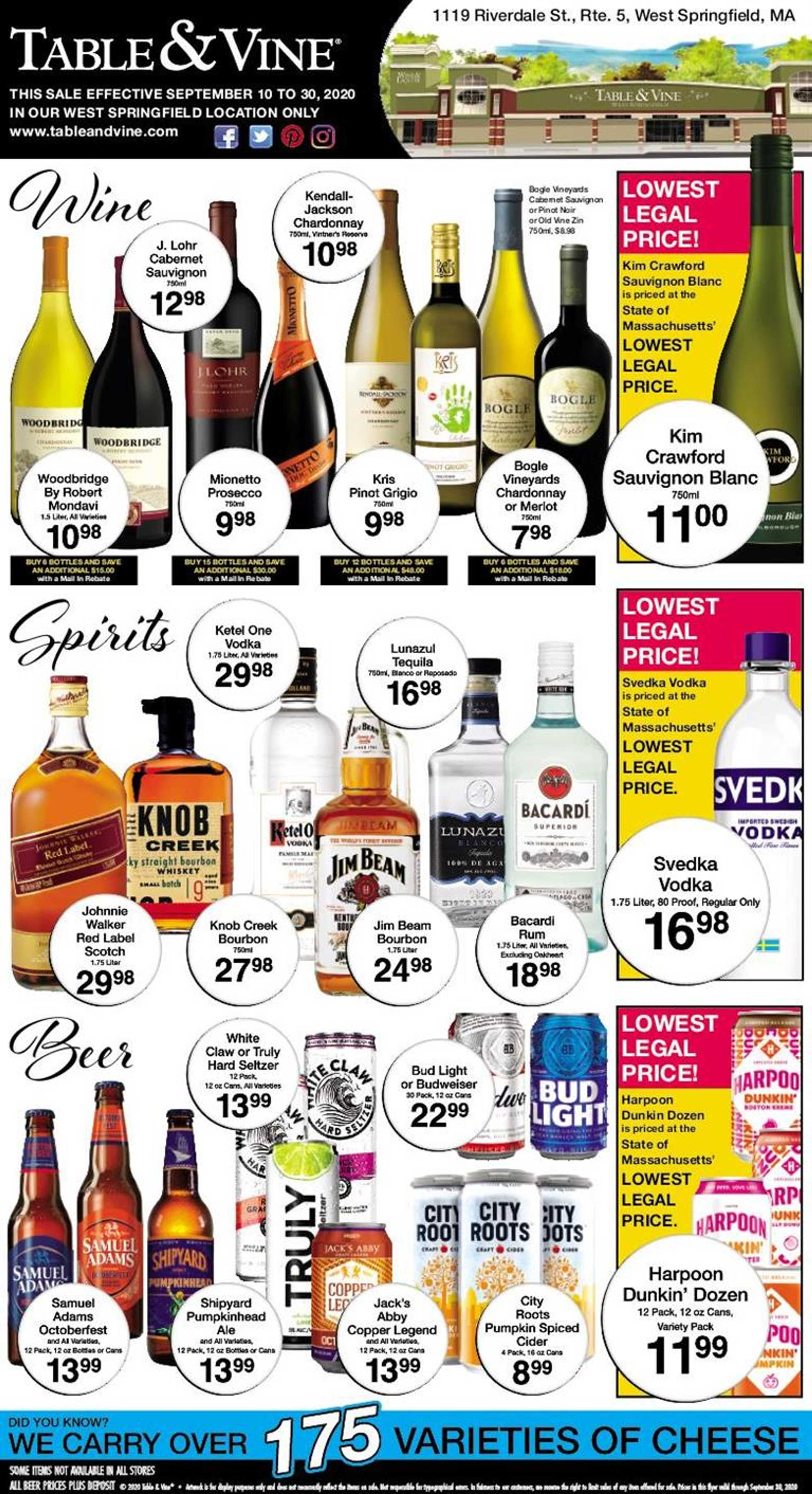 Big Y - deals are valid from 09/10/20 to 09/30/20 - page 1.