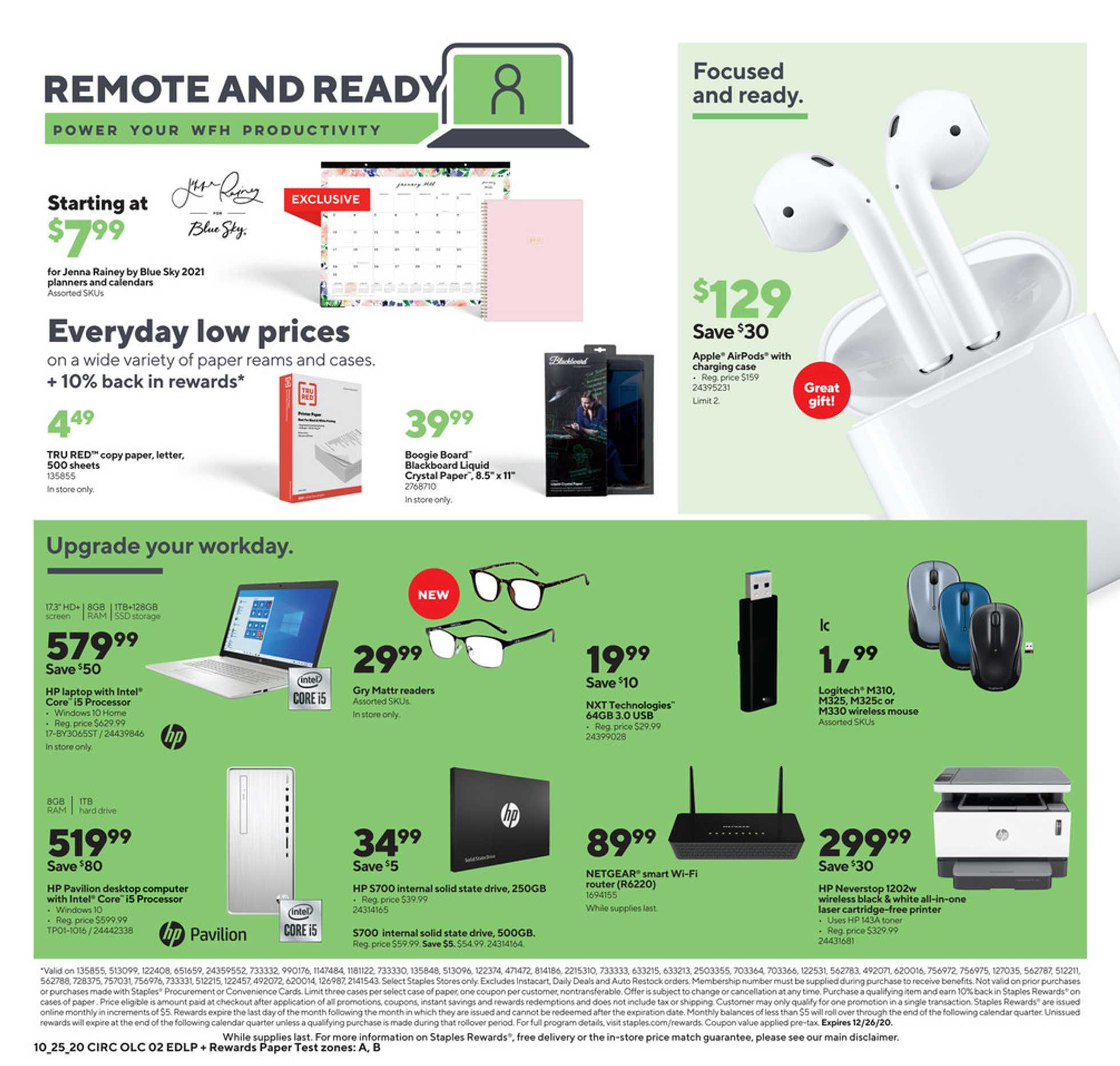 Staples - deals are valid from 10/25/20 to 10/31/20 - page 2.